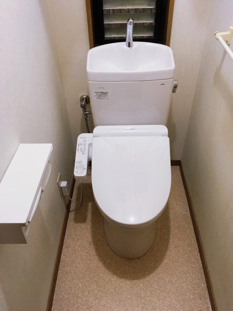 節水トイレへ取替🚽