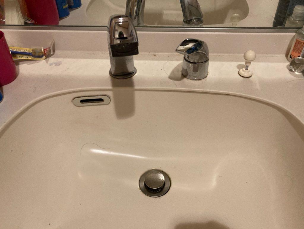 城陽市寺田のお客様宅の洗面下の水漏れ修理編🚰
