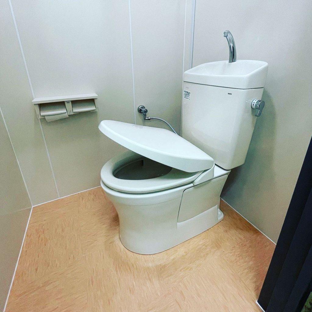 京都市南区の工場内和式トイレ改修工事編